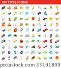 100, toy, icons 33101809