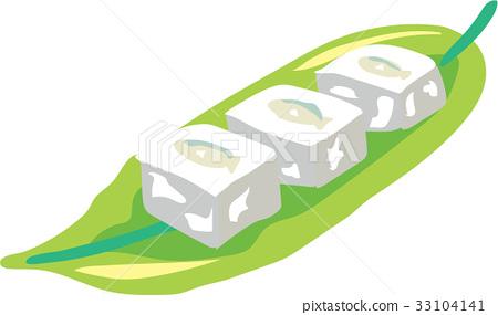 Okinawa cuisine skew glass tofu illustration 33104141
