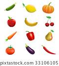水果 向量 向量圖 33106105