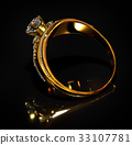 Engagement gold ring with jewelry diamond gem. 33107781