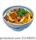 猪排盖饭 猪排饭 裹面包屑猪肉饭 33108091