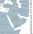 Middle East political map 33111061