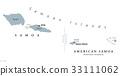 Samoan Islands political map 33111062