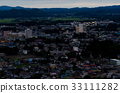 provincial town, evening, town 33111282