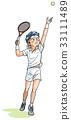 網球運動員 33111489