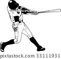 baseball player, sketch illustration 33111931