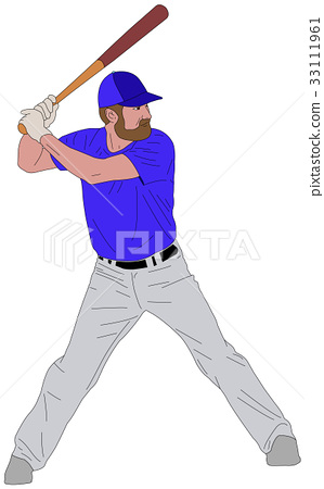 baseball player detailed illustration 6 33111961