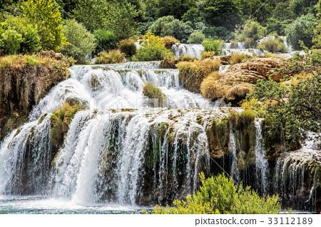 Krka waterfalls, croatian national park, Croatia 33112189