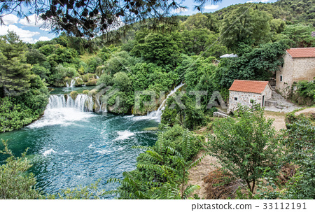 Krka waterfalls, croatian national park 33112191