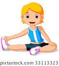 young girl doing yoga 33113323