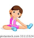 young girl doing yoga 33113324
