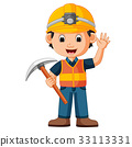 construction man holding axe 33113331