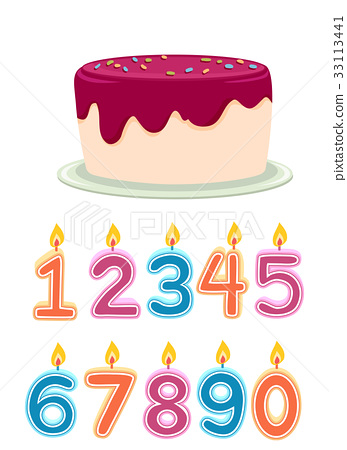 Number Birthday Candles Cake 33113441