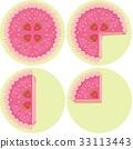 Strawberry Cake Fraction 33113443