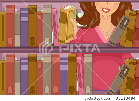 Girl Bookshelf Library 33113494