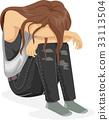 Crying Girl Teen Depressed 33113504
