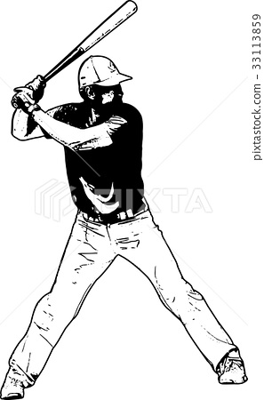 baseball player, sketch illustration 33113859