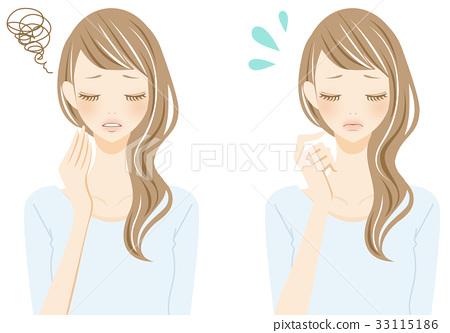灰頭髮的女人痛苦 33115186