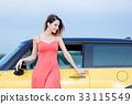 adult girl near car 33115549