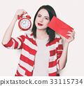 女孩 時鐘 鐘錶 33115734