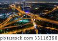 Bangkok Expressway and Highway top view  33116398