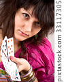 soothsayer with scrying cards 33117305