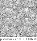 Coloring book page design with Feather Pattern 33118638