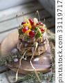 蛋糕 水果 櫻桃 33119717