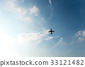 飞机 天空 蓝天 33121482
