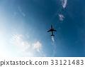 飞机 天空 蓝天 33121483