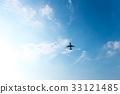 飞机 天空 蓝天 33121485