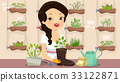 Girl Recycle Gardening 33122871