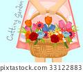 Girl Basket Cutting Garden 33122883