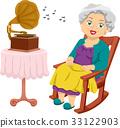 Senior Girl Gramophone Rocking Chair 33122903
