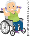 Senior Girl Wheel Chair Dumbbells 33122907