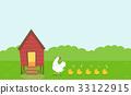 Chicken Coop Hen Chicks 33122915