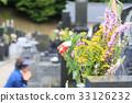 參觀墳墓,托盤的鮮花 33126232