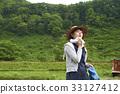 person, rice planting, farmwork 33127412