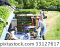准备的妇女种植米 33127617