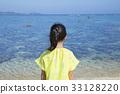หญิงสาวมองทะเล 33128220