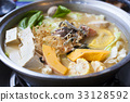 japanese and asian cuisine. hot pot on background 33128592