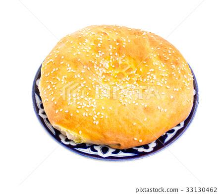 Delicious uzbek national bread. 33130462