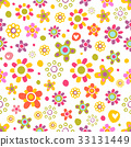 pattern, vector, flowers 33131449