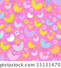 seamless vector bird 33131470