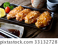 Fried chicken wing with in Japanese tebasak 33132728