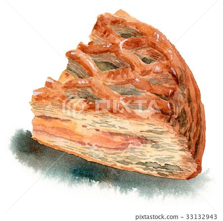 Apple pie quarter cut 33132943