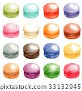 马卡龙 多彩 富有色彩的 33132945