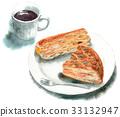 2個餡餅和咖啡 33132947