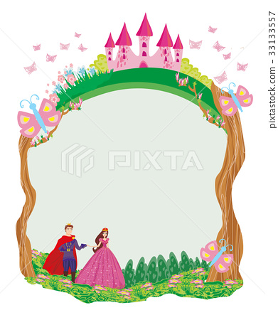 prince and princess in the garden - frame 33133557