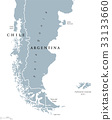 Patagonia and Falkland Islands political map 33133660
